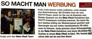 """Artikel Zeitschrift """"Mein Pferd"""" 04/2014"""
